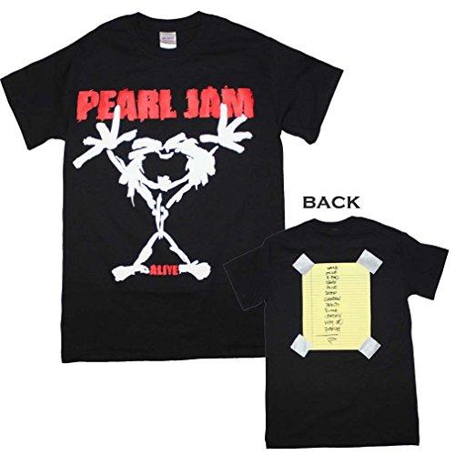 Unique Vintage Pearl Jam Alive Stickman T-Shirt X-Large High Quality Desiqn (Vintage Pearl Jam)