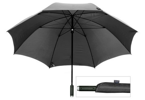 Farbe Taschen-Regenschirm mit Schutzhülle schwarz