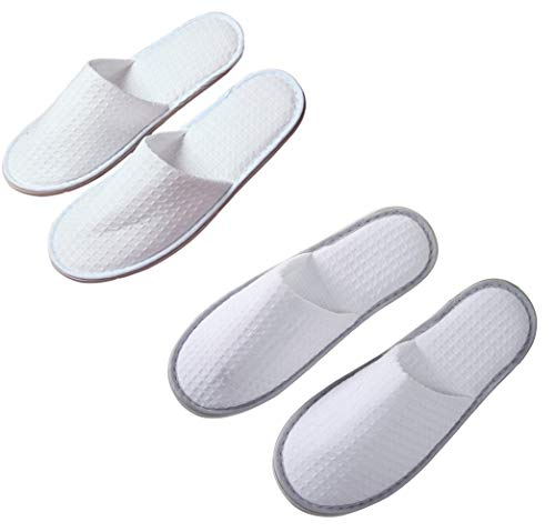 Suky&Woody Featured Individually Packed Waffle for Hotel Motel Homestay Airbnb Party Spa Slipper 20 Pairs
