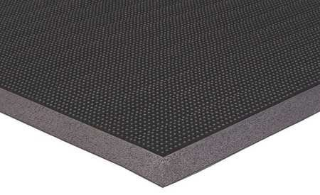 Rubber Entrance Mat, Black, 2ft. x 2ft. 8