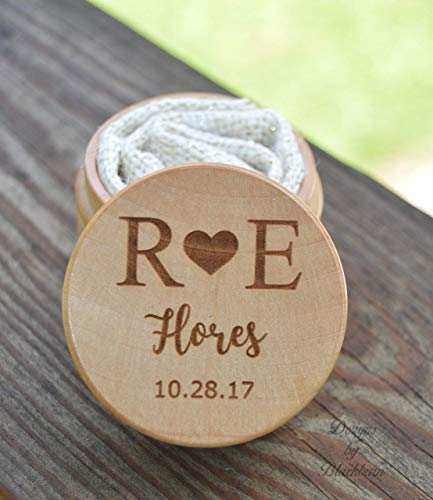 Keepsake Ring Box for Wedding Ceremony - Personalized - Ring Bearer Pillow Alternative - Ring Storage
