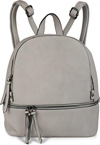 handbag noble rucksack backpack unisex 02012147 bag Beige Black zips styleBREAKER with leatherette Color style XxHqwWaC