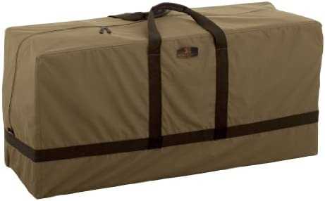 Classic Accessories Hickory Patio Seat Cushion Cover Storage Bag