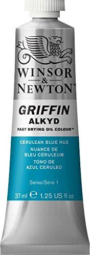 Griffin Alkyd Fast Drying Oil, 37ml Tube, Cerulean Blue Hue