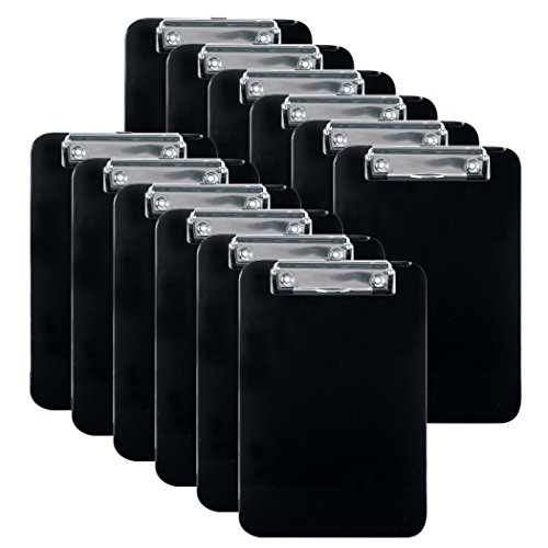 Officemate Memo Size Clipboard, Black, Pack of 12 (83012) ()