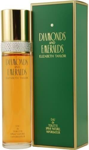 DIAMONDS & EMERALDS by Elizabeth Taylor EDT SPRAY 1.7 OZ (Package Of 4)