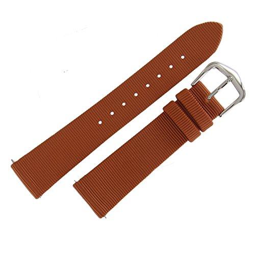 Hadley Roma LS732 18mm Regular Cinnamon Grosgrain Ribbon Ladies Watch -