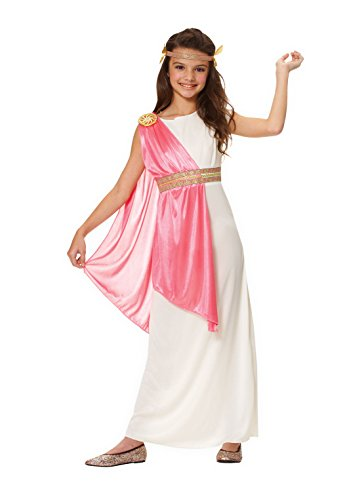 Halloween Greek Goddess Costume (Costume Culture Girl's Roman Empress Costume, Ivory, Large)