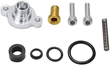 Black Fuel Pressure Regulator Valve Cap Spring Upgrade Kit Replacement for Ford 7.3L 1999-2003 Powerstroke Diesel