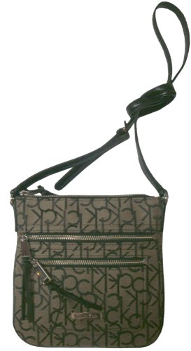 Women's Calvin Klein Purse Handbag Crossbody Khaki/Black
