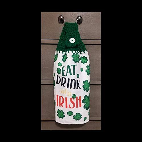 Crochet Top Kitchen Towel St Patrick