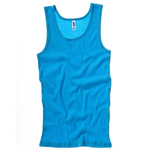 Bella+Canvas 2x1 rib tank top Turquoise S
