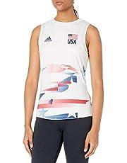adidas Women's Usav Jersey Primeblue W, White/White/Team Navy Blue, Large