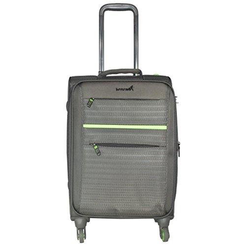 Traworld Jupiter 1003 24 inch 4Wheel Trolley Bag   Grey