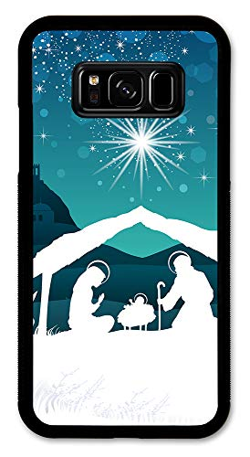 Samsung Galaxy S8 Case, Slim Fit - Hard Shell Rubber - Full Protective Cover Samsung Galaxy S8 - Nativity - Rubber Nativity