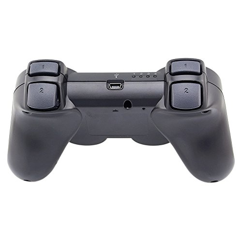 Super Premium Wireless Bluetooth Six Axis Dualshock Game Controller for Sony Ps3, Black