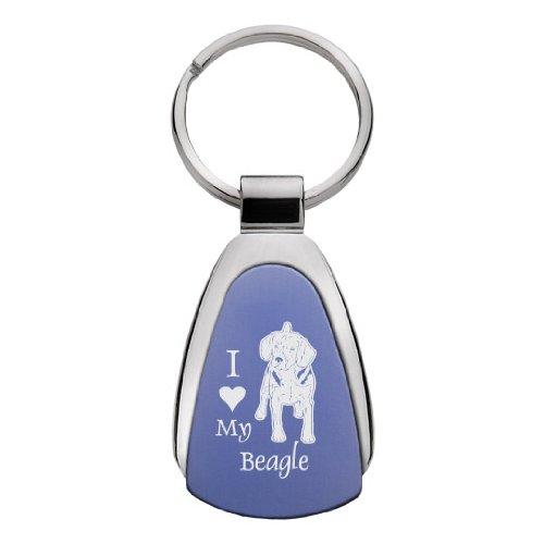 Sutter's Mill Specialties Tear Drop Keychain - I Love My Beagle - Blue ()