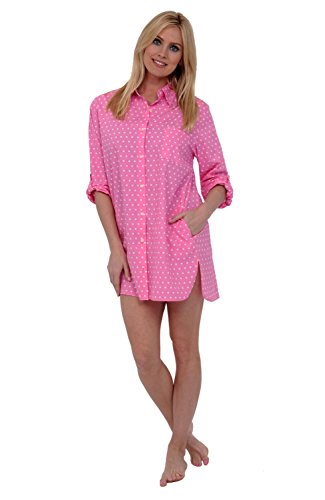 Avidlove Womens Sleep Shirt Luxury Sleepwear Long Sleeve Button ... 2986a12d0