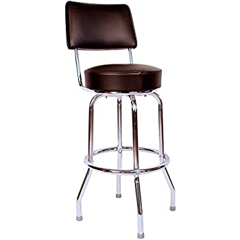 Richardson Seating Swivel bar Stool with Back Chrome Frame and Black Seat 24   sc 1 st  Amazon.com & Amazon.com: Richardson Seating Swivel bar Stool with Back Chrome ... islam-shia.org