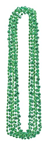 Wee willy St. Patrick's Day Party Shamrocks Multipack Bead Necklaces , Green, Plastic , 30