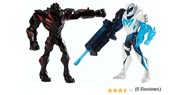 Max Steel - Pack de figuras de acción, Turboluchadores, Claw Dredd vs. Blaste (Mattel Y1407): Amazon.es: Juguetes y juegos