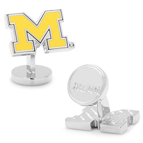 NCAA Palladium University of Michigan Wolverines Cufflinks, Officially Licensed by Cufflinks
