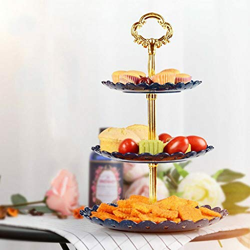 LLJEkieee 3-Tier Cupcake Stand Cake Dessert Wedding Event Party Display Tower Plate Round for tea party, weddings, Christmas, Thanksgiving or for home decor (White)