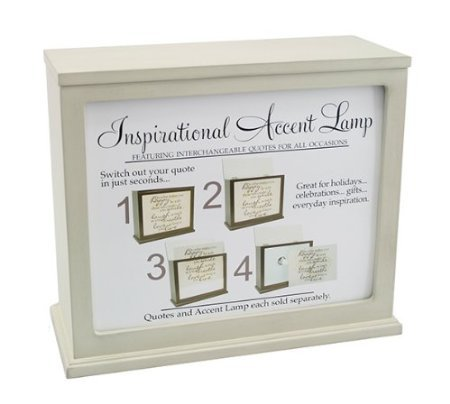 Kindred Hearts / Jada Venia - Inspirational Accent Lamp & Light Box (10 1/4' x 4 1/2' x 8 3/4') - Wicker - 1-105