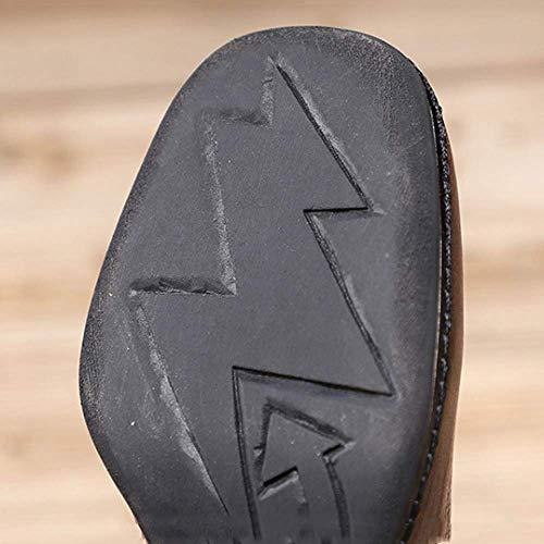 femmes noire confort talons fermeture hauts vintage à pour chaussures glissière bottines personnalité Zpedy xWU8w7Eq4W