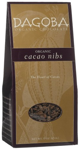 Dagoba Cacao Nibs, Lightly Roasted, 6-Ounce Packages (Pack of 2)