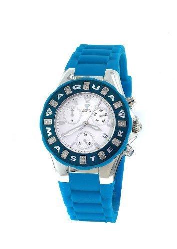 Tahitian Diamond Jelly Bean Chronograph Blue Watch W#324 ()