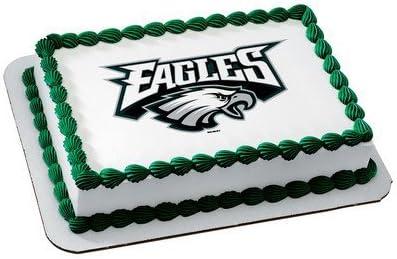 Super Amazon Com Philadelphia Eagles Licensed Edible Cake Topper 4577 Funny Birthday Cards Online Hendilapandamsfinfo