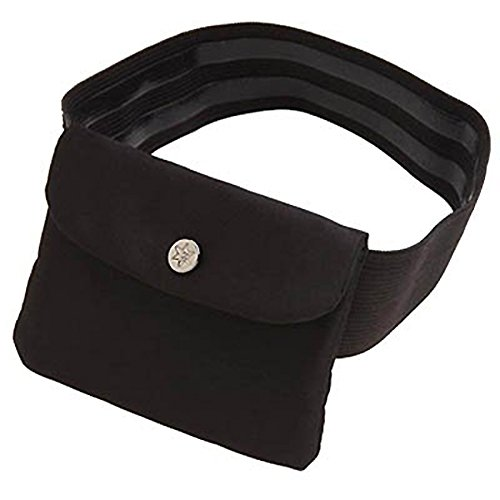Bisadora Black Silk Garter Purse - Medium (Flask Thigh Strap)