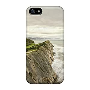 Top Quality Case Cover For Iphone 5/5s Case With Nice House Behind Protective Coastal Cliff Appearance