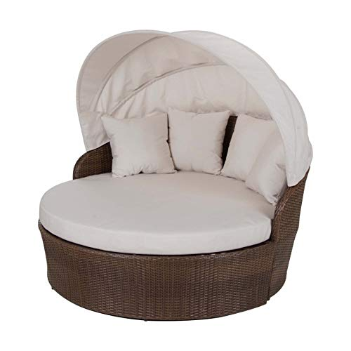 Panama Jack Outdoor Canopy Daybed with Cushion (Canvas Vellum)