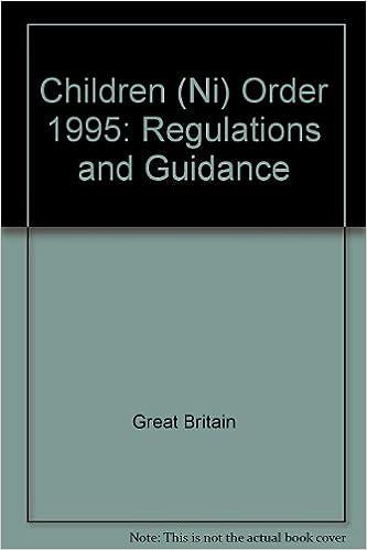 Children (Ni) Order 1995: Regulations and Guidance