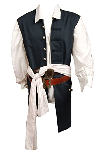 Men's Pirate Captain Costume Adult Halloween Cosplay Vest X-Large - Pirate Vest Male