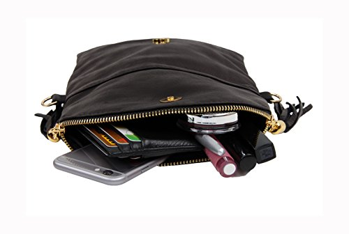 "SLIN GBAG ""Shakira Clutch/bolso de mano/bolso de cuero auténtico/Selección de Colores Weiss"