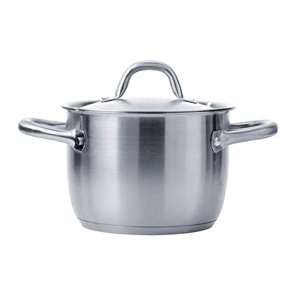 Ikea 365+ Stock Pot With Lid, Stainless Steel (5 Qt)