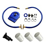yjracing Coolant Filtration System Filter Kit 3 Filter # 24070 Fit 2003-2007 Ford Powerstroke Diesel 6.0L