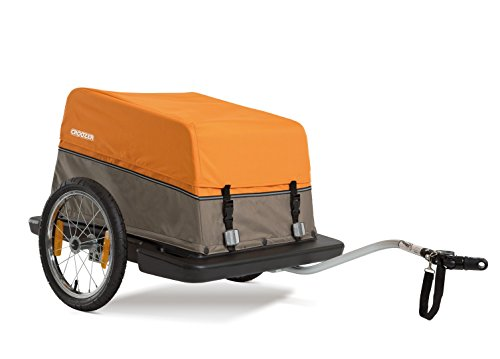 Croozer Multiuse Bicycle Cargo Trailer, The Cargo for both Cycling and Carting Loads - Orange/Sand