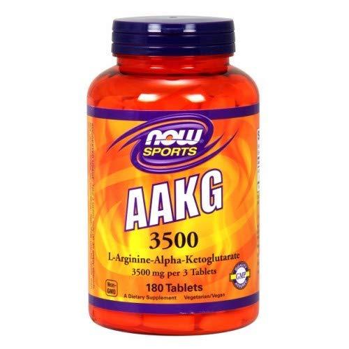 Now Foods AAKG 3500 - 180 Tabs 2 Pack (Now Foods Aakg)