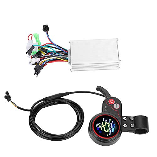E-Bike Controller Electric Scooter Controller with LCD Display Control Panel and Shift Switch Accessory for Electric Bike Scooter Controller Kit(36V)