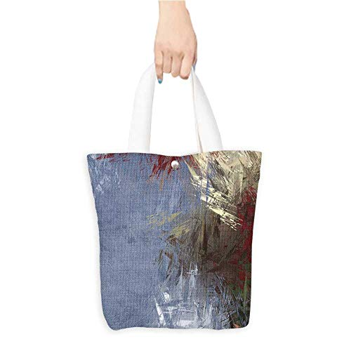 Casual Shopping Tote Bagbrushe painte backgroun brush stroke paint Reusable 100% Eco Friendly W11 x H11 x D3 ()