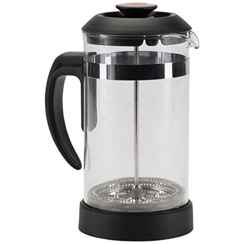 Trudeau Maison Cafetera de émbolo, prensa francesa de vidrio borosilicato con filtro de acero inoxidable, 1,0 l
