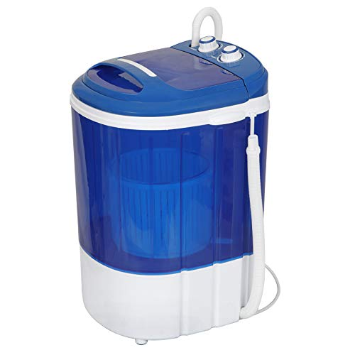 Portable Washing Machine Mini Compact Counter Top 8.8Lbs Washer Single Tub Durable Spin Dryer for Apartments,Dorms,Camping, Dorms, College Rooms, RV's