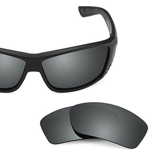 Verres de rechange pour Costa Cat Cay — Plusieurs options Noir Chrome MirrorShield® - Polarisés