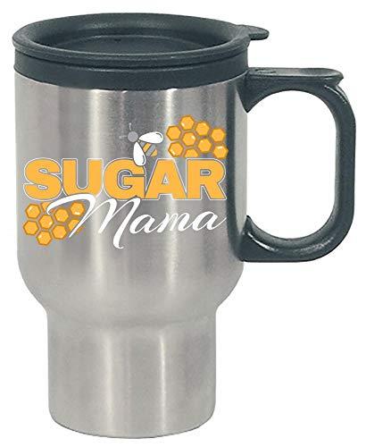 Funny Honey Comb Sugar Mama Bee Hive Cute Beekeeper Queen Bee - Stainless Steel Travel Mug