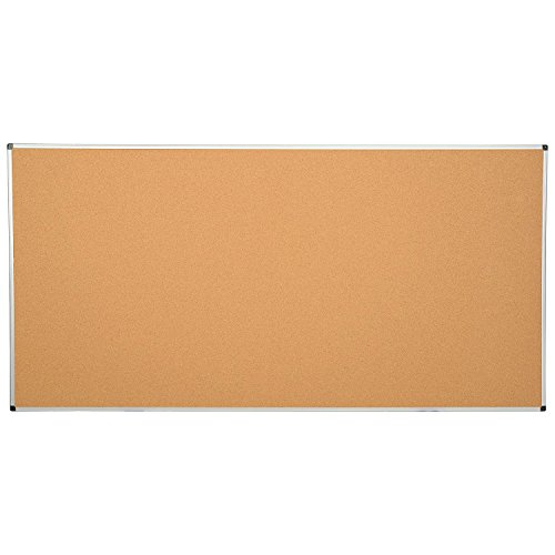 Large Cork Bulletin Board w/Aluminum Frame - 96 x 48 by Bi-Silque Visual Communication Products Inc