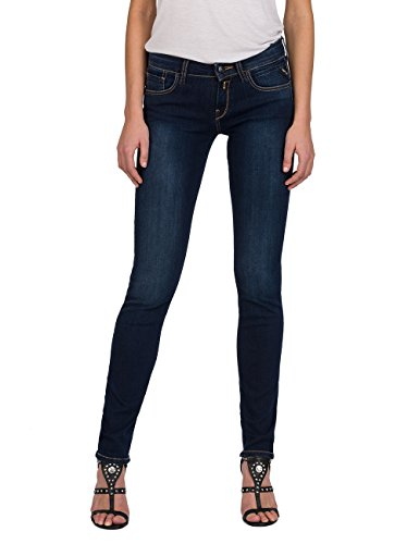 Replay Women's Vicki Straight Jeans Blue (Dark Blue Denim 7)